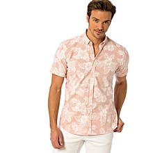 Pink Fashionable Skinny Shirt