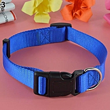 Adjustable Dog Safety Nylon Buckle Neck Collar XL(Blue)