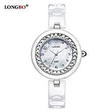 6127A Women's Wristwatches Crystals Ceramic Quartz Watches Fashion Girls Dress Clock Women Watch Famous Luxury Brands - Silver