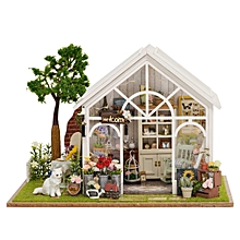 DIY Dollhouse Miniature Furniture Kit LED Kids Birthday Xmas Gift Flower House