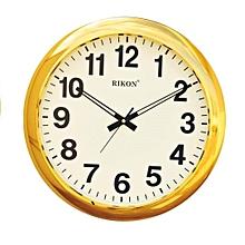Wall clock 2951 - Round shaped,  golden ivory plastic frame 32 cm diameter