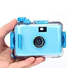 Underwater Waterproof Mini 35mm Film Camera Purple -Sky Blue