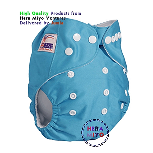 Washable Reusable Adjustable Baby Diaper with 2 Inserts.
