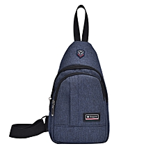 Africanmall store Fashion Men Male Anti Theft Chest Bag School Summer Short Trip Messengers Bag-Blue