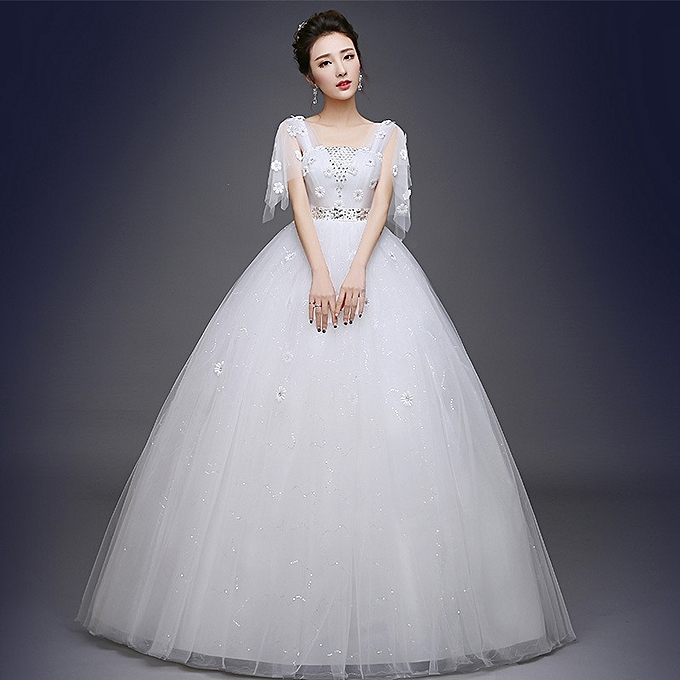AFankara Ball Gown Wedding Gowns With Appliques/Lace-White