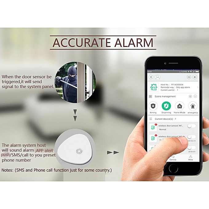 EN RU ES language Wireless Home Security WIFI Alarm system APP Remote  Control with ip camera PIR door sensor JOHN