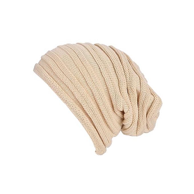 bba00e8046d Wenrenmok Store Men Women Baggy Warm Crochet Winter Wool Knit Ski Beanie  Skull Slouchy Caps Hat
