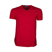 Quality Casual And Semi Formal Cotton Plain V Neck T Shirts