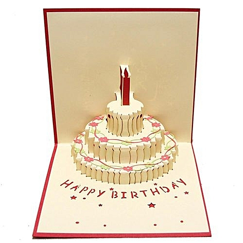 Buy Generic 3d Pop Up Cards Valentine Lover Happy Birthday