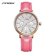 brand women watches 2017  leather reloj mujer luxury dress quartz watch ladies rose gold wrist watch montre femme 1
