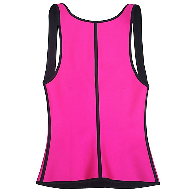 b32d5a691d927 ... Women Fashion Camisole 9 Steel bones Waist Trainer Rubber Shapewear-Pink