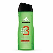 3 in 1 Active Start Sower Gel + Shampoo + Face Wash - 250ml