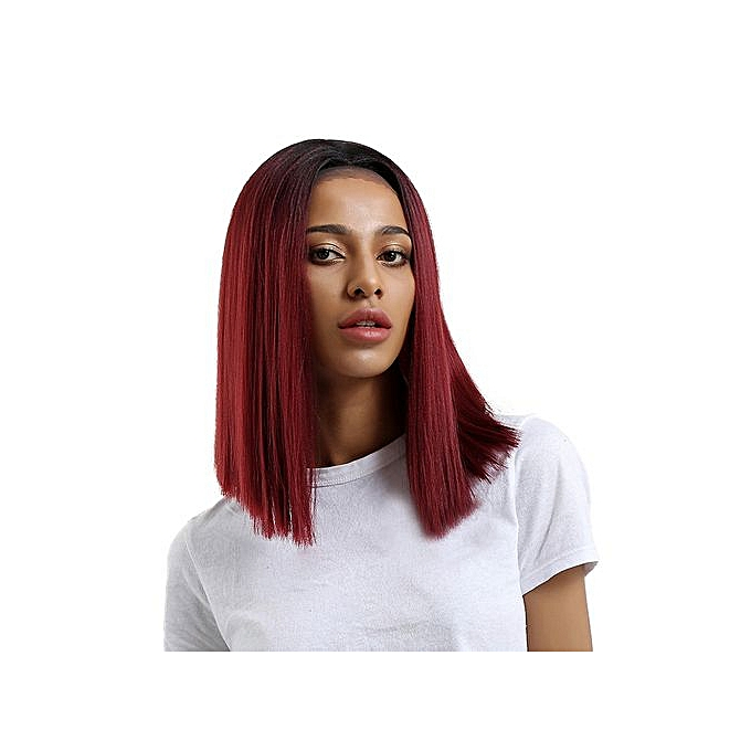 Generic Glueless Resistant Lace Front Women Red Straight Hair Full ... ee36eba80