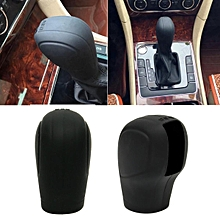 Black Soft Silicone Nonslip Car Shift Knob Gear Stick Cover Protector