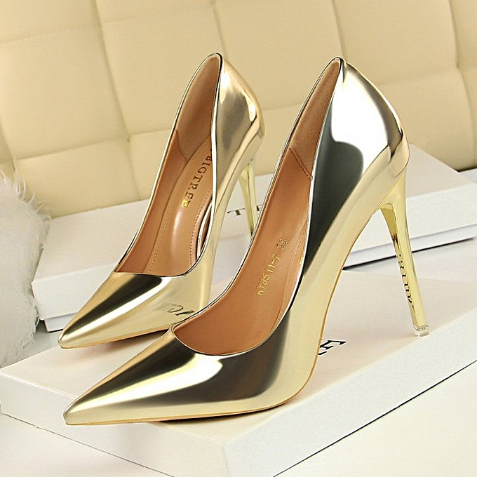 512d2507043 Generic Gold Women s High Heels Pumps Pointed Toe Stiletto-gold ...