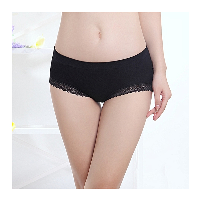 ac9856b077a1a Women Comfort Seamless Breathable Low Waist Pure Color Lacy Panties Briefs