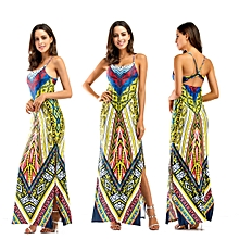 African Print Traditional Clothing Casual Party Dress-Green