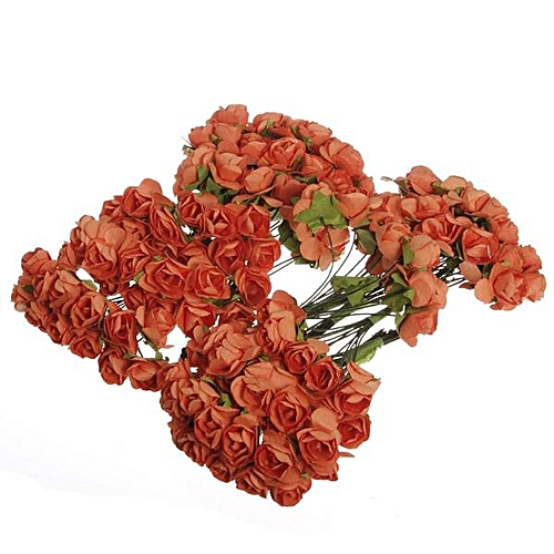 Generic 144pc Mini Petite Paper Artificial Rose Buds Flower Diy