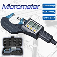Digital Display 25MM Range Micrometer 0.001MM Resolution Metalorking Tool