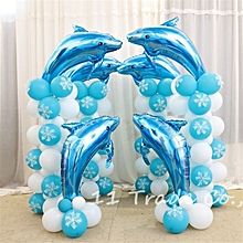 29.5In Celebration Activities Aluminum Foil Dolphins Balloons Wedding Arch Balloon Birthday Party Home Decoration