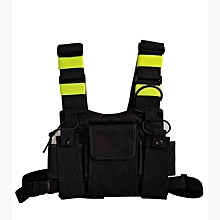 lechenstar Radio Chest Harness Chest Front Pack Pouch Holster Vest Rig for Two Way Radio Walkie Talkie(Rescue Essentials) (Green)