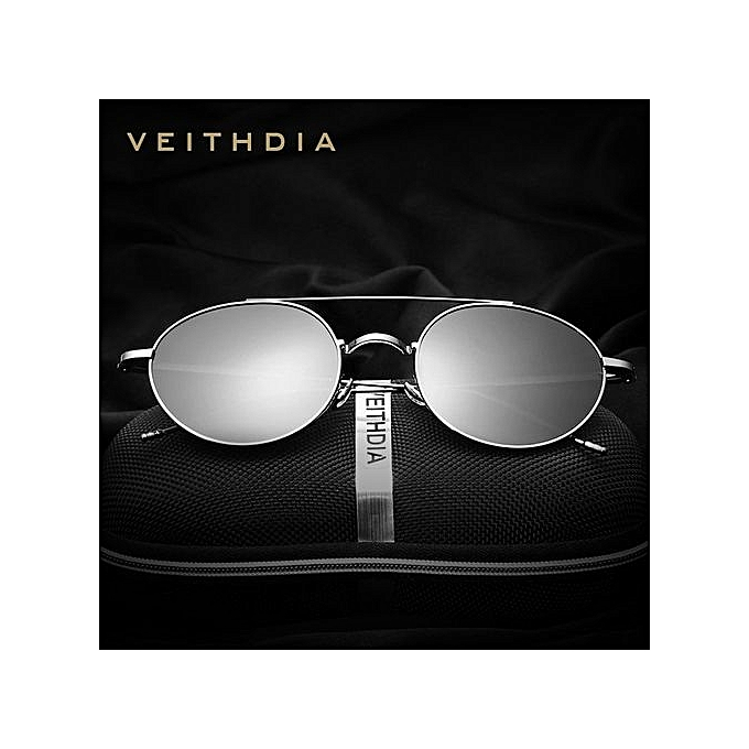1aa09acc3f8 VEITHDIA Brand Fashion Unisex Sun Glasses Polarized Coating Mirror Driving Sunglasses  Round Male Eyewear For Men