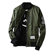 lowest price 3c0b9 13efc Men Jacket With Patches Both Side Wear Thin Bomber CoatV