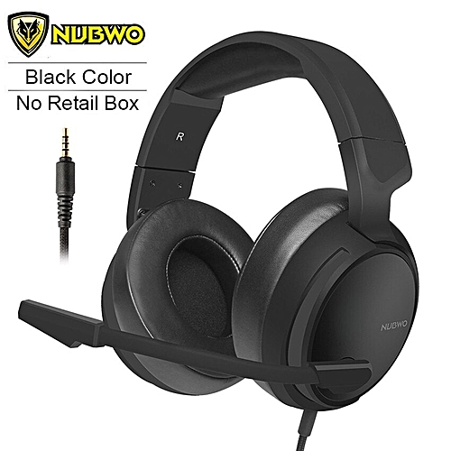 N12 PS4 Gaming Headset PC Gamer casque Stereo Gaming Headphones with Mic  for New Xbox One/Laptop/Nintendo Switch(Black No Retail Box)