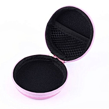 Earphone Pocket Headphone Earbud Carry Storage Bag Coin Pouch Hard Holder Case(Pink)