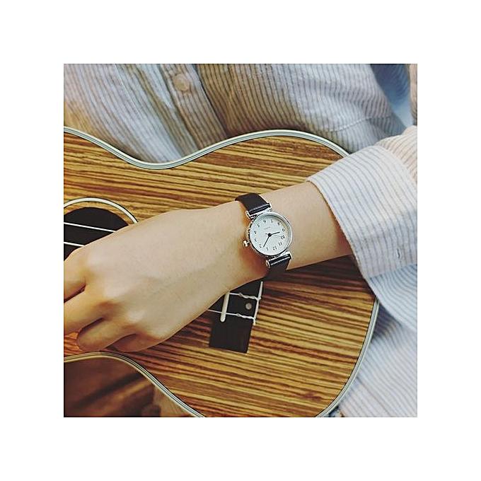 Zetenis Women Quartz Analog Wrist Small Dial Delicate Watch Luxury Business Watches BK -Black