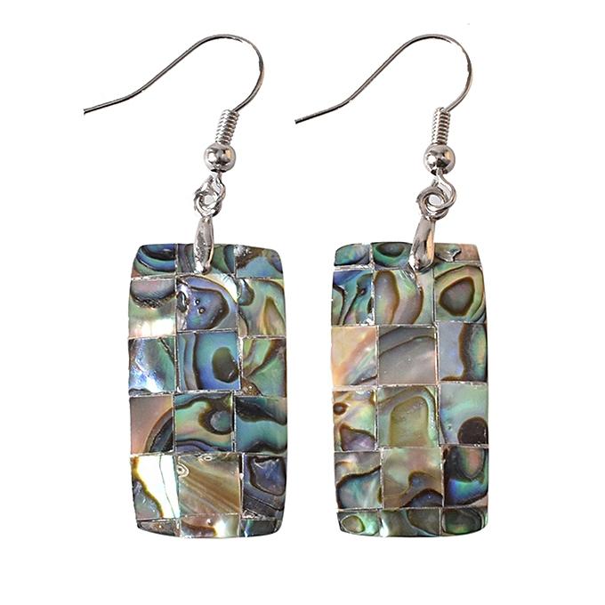 2f16b5125f6 TB Geometric Shape Minimalist Natural Abalone Shell Pendant Dangle Earrings  multicolor