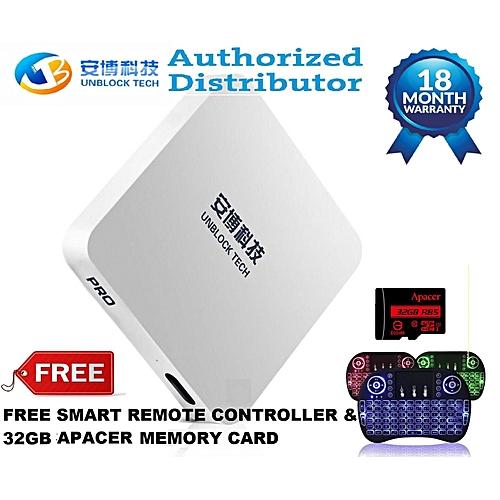 Ubox 2018 Upro i900 16G Pro BT Bluetooth Version Media Players (Unblock  Tech ) + FREE SMART REMOTE CONTROLLER (White) YCMI-A