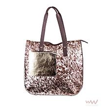 Ladies Auma Tote Bag - Made In Kenya ,100% Genuine Leather - Beige