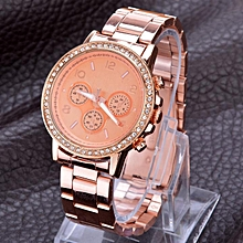 Bling Crystal Gold Watch Mens Watches Luxury Watches Ladies Watch Stainless Steel-Rose Gold