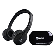 Multifunction Wireless Stereo Headphones On Ear Headset FM Radio Wired Earphone Transmitter for MP3 PC TV Smart Phones