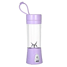 380ml Portable USB Rechargeable Juicer Cup Fruit Juicer Blender Mixer Protein Shakes Maker Bottle for Office Outdoor Travel Purple