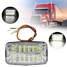 12V-24V 12LED Indicator Side Signal Light For Cars/Trucks/Trailers/Boats (White)
