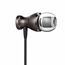 Professional Earphone With Microphone 3.5mm Standard Stereo Unisex HD Sound Dark Grey