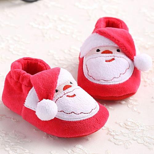 32559e5852 Fashion Fantynes Kids Baby Shoes Toddler Infant Newborn Santa Claus Soft  Sole Baby Girl Boy Prewalker 13-Red