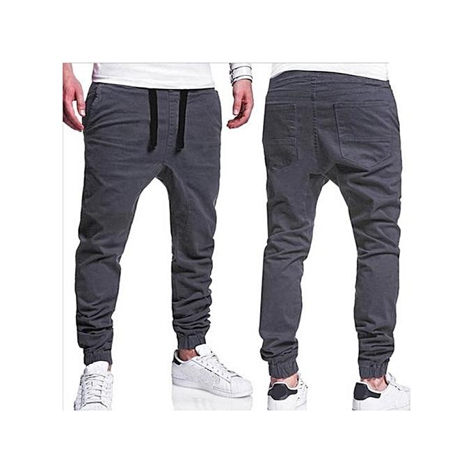 c9084aa44de202 Mens Trousers Sweatpants Harem Pants Slacks Casual Jogger Dance Sportwear  Baggy (Dark Grey)