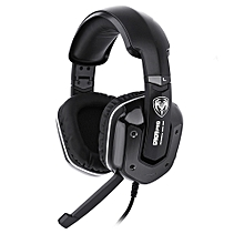 G909PRO 7.1 Sound Effect Over-ear Gaming Headphone with Mic  - Black
