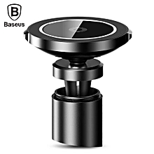 IPhone X / 8 Big Ear Qi Wireless Charger Magnetic Car Mount Holder Clamp And Paste Stand - Black