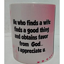 Coffee gift mug for a wife -  ideal for christmas gifting
