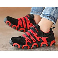 Red & Black Casual Sneakers For Kids