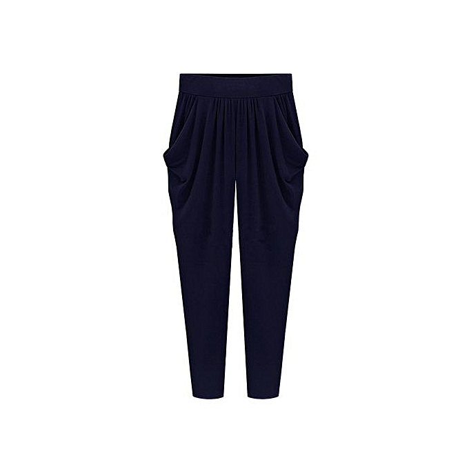 91b90168744 Fashion Style Plus Size Womens Elastic High Waist Long Pants Loose Harem  Pants Trousers