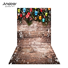 Andoer 1.5 * 0.9m/4.9 * 3.0ft Christmas Backdrop Photography Background Wood Wall Picture for DSLR Camera Children Newborn Wedding Photo Studio Video