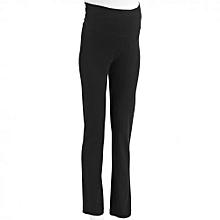 Black Slim Fit Maternity Trousers