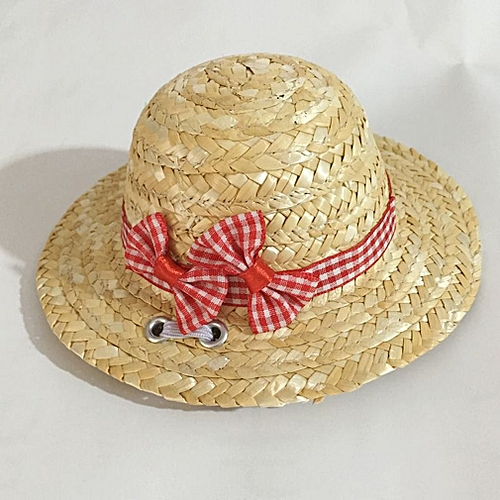Allwin Summer Trendy Pet Dog Cat Cool Straw Hat Sun Hats Puppies Pet  Accessories red lattice M   Best Price  399dfb890715