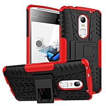 "For Vibe X3 Case, Hard PC+Soft TPU Shockproof Tough Dual Layer Cover Shell For 5.5"" Lenovo Vibe X3, Red"