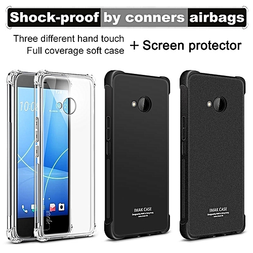 new style 9167e 792de Case Airbag Cover Shockproof Back Cover For HTC U11 Life Case Soft Silicone  Cover Case For HTC U11 Life TPU Case + Film